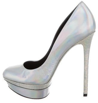 B Brian Atwood Metallic Platform Pumps $95 thestylecure.com