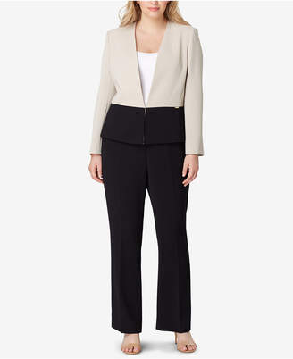 Tahari ASL Plus Size Colorblocked Pantsuit