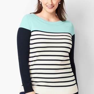 Talbots Colorblock Stripe Sweater