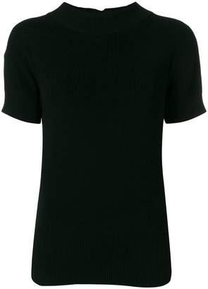 Sacai back zip detail blouse