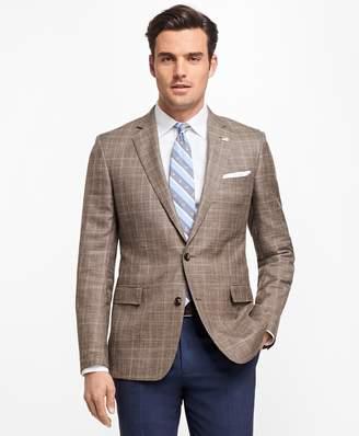 Brooks Brothers Regent Fit Saxxon Wool Plaid with Windowpane Sport Coat