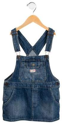 Ralph Lauren Girls' Denim Overall Dress