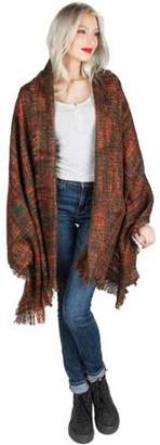 AERUSI Women's Soft Woven Oversized Wrap Shawl Grid Blanket Scarf [Adult Size]
