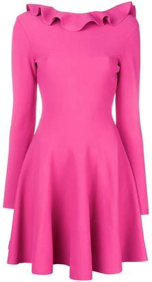 Valentino ruffle neck short dress