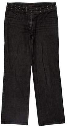 Burberry Mid-Rise Grommet-Accented Jeans