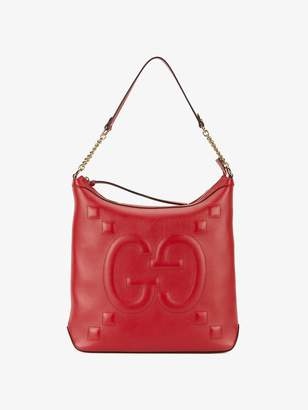 43990ab37ec at Browns Fashion · Gucci Red embossed GG leather shoulder bag