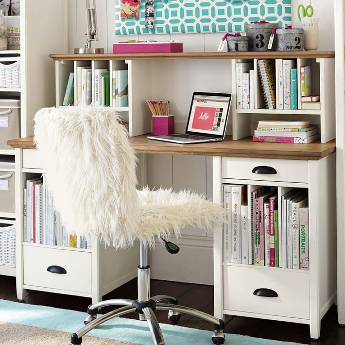 STUDY Chatham Large Pedestal Desk + Hutch