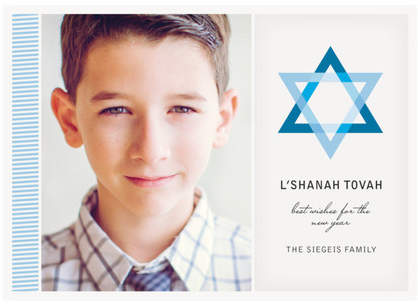 Blue Star Rosh Hashanah Cards