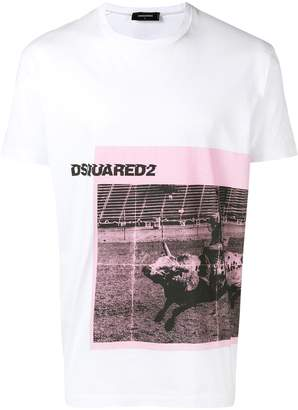 DSQUARED2 Rodeo print T-shirt