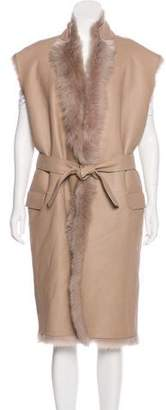 Hotel Particulier Leather Shearling Vest w/ Tags