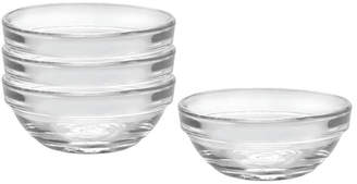 Duralex Set Of 4 Lys Small Stackable Bowls