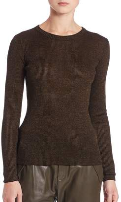 SET Women's Shimmer Ribbed Knit Sweater
