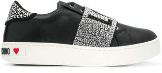 Love Moschino logo studded strap sneakers