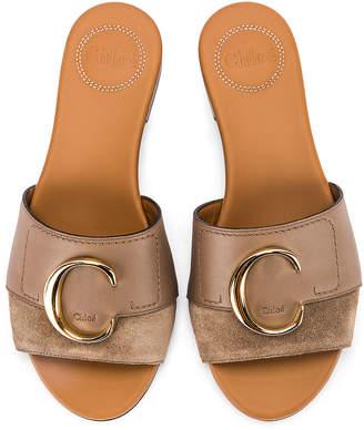Chloé Flat Sandals in Motty Grey | FWRD