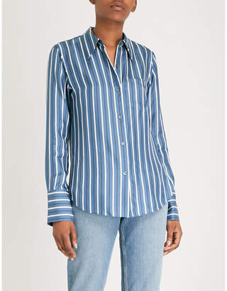 Theory Striped-pattern silk shirt