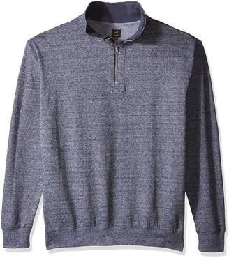 Lee Men's Big Mock Neck Quarter Zip Sweater