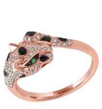Effy Signature Diamond, Tsavorite and 14K Rose Gold Leopard Ring