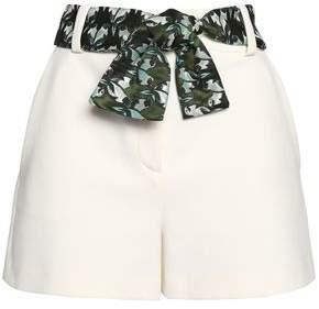 Maje Belted Crepe Shorts