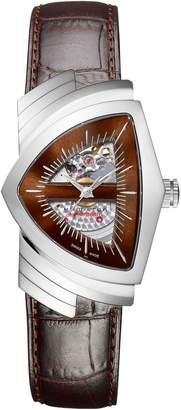 Hamilton Ventura Automatic Leather Strap Watch, 34mm x 54mm