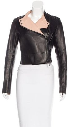 Belstaff Cropped Leather Jacket $595 thestylecure.com