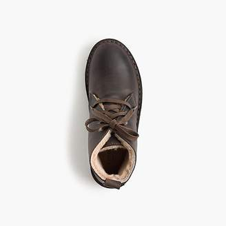 J.Crew Kids' shearling-lined oiled-leather MacAlister boots