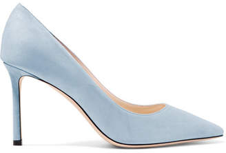 Jimmy Choo Romy 85 Suede Pumps - Sky blue