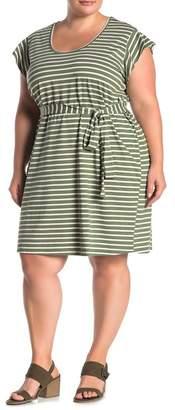Sanctuary Ruby Striped Tie Waist Dress (Plus Size)