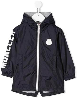 Moncler logo panelled rain jacket