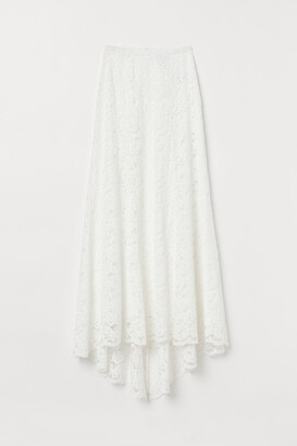 H&M Lace Skirt - White