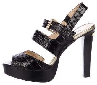 MICHAEL Michael Kors Embossed Platform Sandals