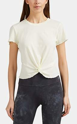 Electric & Rose Women's Twisted-Hem Stretch-Cotton T-Shirt - Yellow