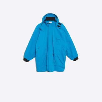 Balenciaga Oversize parka in blue mat nylon