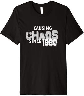 Chaos Blink Gags Imprints Causing Since 1980 T-Shirt Funny 39th Birthday Shirt