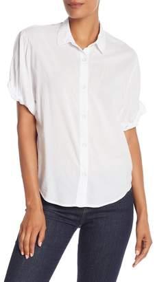 Splendid Button Down Boyfriend Short Sleeve Shirt