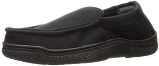 Dearfoams Men's Mixed Material Moccasin