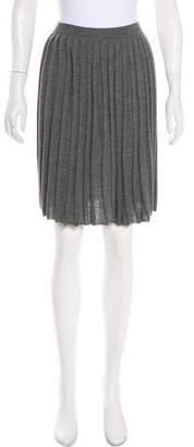 Sofie D'hoore Wool Knee-Length Pleaded Skirt