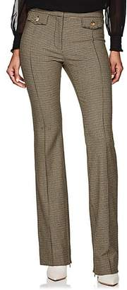 Derek Lam 10 Crosby Women's Checked Wool-Blend Flannel Crop Flared Pants - Camel