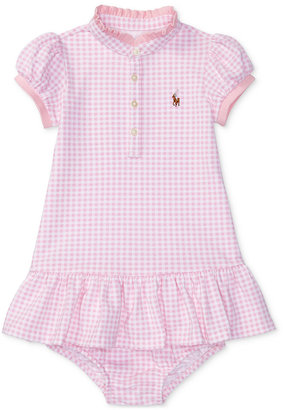 Ralph Lauren Gingham Cotton Mesh Dress, Baby Girls (0-24 months) $35 thestylecure.com
