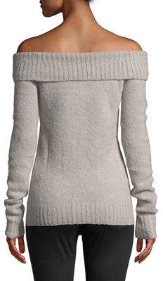 Lovers And Friends Luna Off-The-Shoulder Fold-Over Sweater