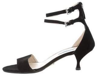 Prada Suede Ankle-Strap Sandals