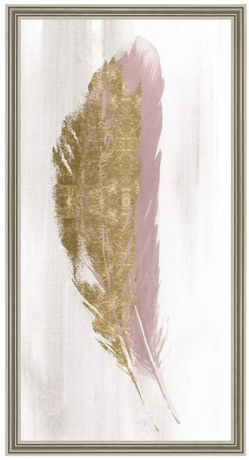 Blush and Gold Feather (Framed)