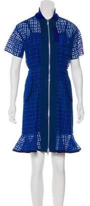 Sacai Luck Eyelet Knee-Length Dress