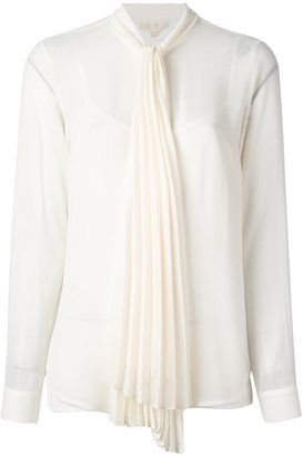 Michael Michael Kors pleated pussy bow blouse $158.80 thestylecure.com