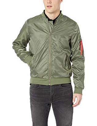 Brooklyn Athletics Men's Nylon Bomber Jacket