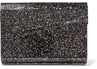 Jimmy Choo Candy Glittered Acrylic Clutch - Metallic