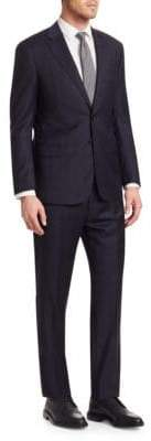 Giorgio Armani Tonal Woven Wool Suit
