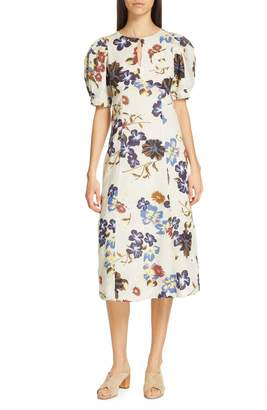 Sea Margherite Floral Print Midi Dress