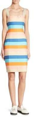 Akris Punto Striped Silk-Blend Dress
