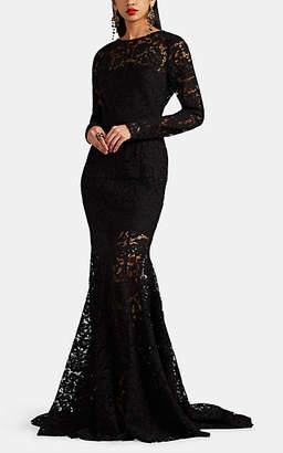 Sophia Kah Women's Floral Lace & Tulle Gown - Black