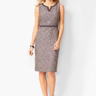 Talbots Tweed Split-Neck Sheath Dress
